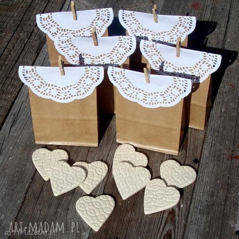 ceramiczne magnesy - podziękowania weselne, ceramiczne, magnesy, serca, serduszka