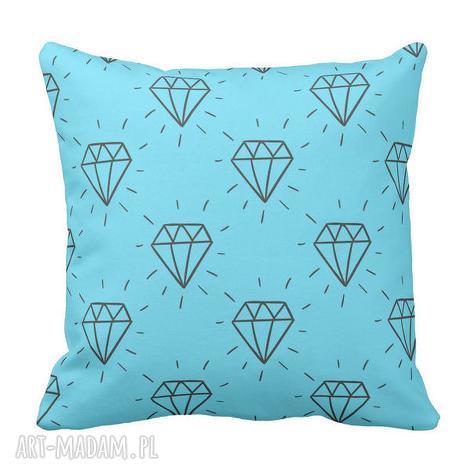 artmini poduszka ozdobna diament brylant 6388, hipster, diament, turkusowa