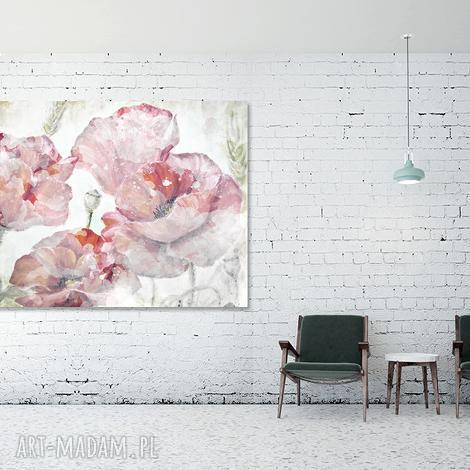 aleobrazy obraz maki 1 - 120x70cm idealny do białego wnętrza, obraz