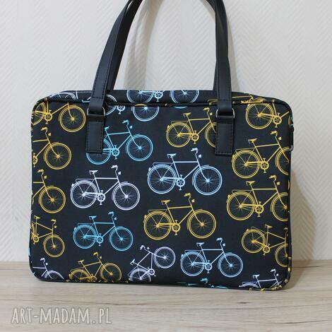 torba na laptop - rowery retro, laptop, rower, pakowna, prezent, święta, biuro