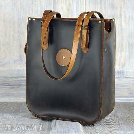 pojemna torba ze skóry naturalnej, duża-torba, torba, torba-ze-skóry, skóra-naturalna