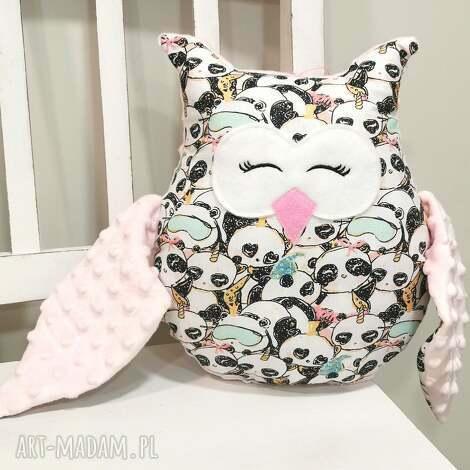 sowa w pandy, ozdobna poduszka dla dziecka, sowa
