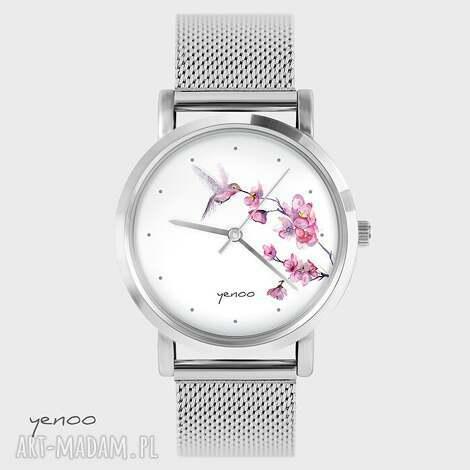 zegarek, bransoletka - koliber, oznaczenia metalowy, bransoletka, metalowa