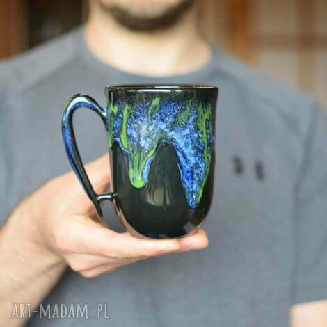kubek ceramiczny zielona głębia 325 ml, kubek, ceramika, ceramiczny