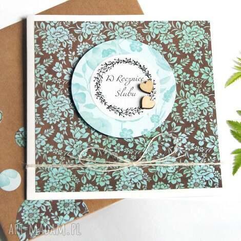 w rocznicę ślubu kartka handmade, rocznica