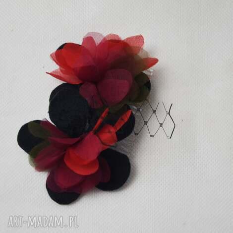 jesienny grzebień, jesień, jedwab, czerwony, khaki, czarny