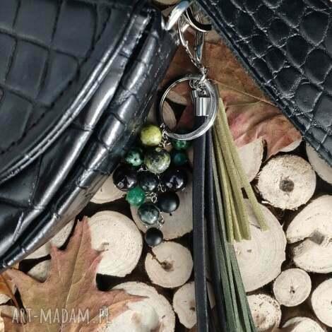 breloki brelok z kamieniami naturalnymi - rainforest iv, zawieszka do torebki