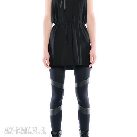 leggisny - futurystyczne tiulowo jerseyowe 2, czarne, elastyczne, wygodne
