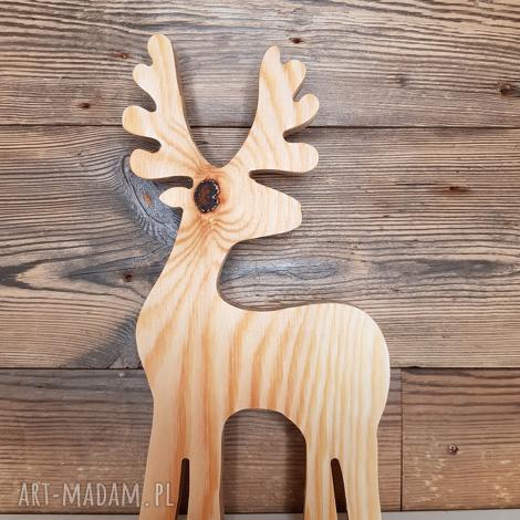 jelonek - 24 cm, jelonek, sklejka, święta, vintage, deer