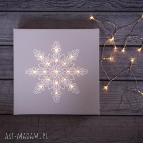 dekoracje świecący obraz led śnieżynka świąteczna dekoracja, śnieżynka, obraz