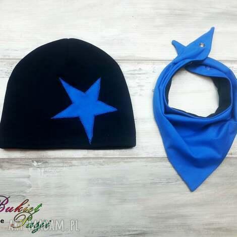 komplet czapka trójkąt apaszka, chustka, czapka, komin, szalik, apaszka