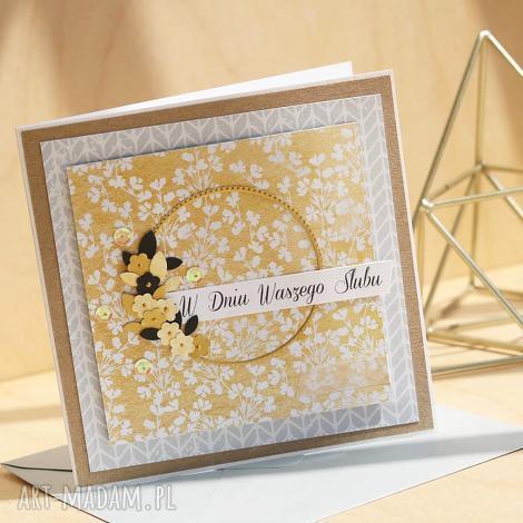 annamade, kartka na różne okazje ślub, urodzinowa, ślubna, wieniec, kwiaty kwiecista