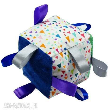 kostka sensoryczna, wzór remix - kostka, sensoryczna, dziecka, babyshower, prezent