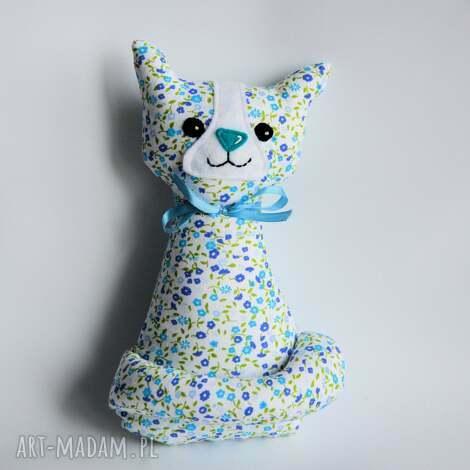 kotek miau - ela - 25 cm - kotek, kot, dziewczynka, kwiatki, maskotka, urodziny