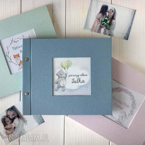scrapbooking albumy pastelowy album dla dziecka 21x21, dziecka, chrzes
