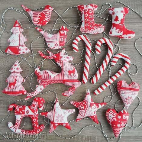 dekoracje świąteczne zestaw 15 sztuk, konik, choinka, święta, mikołaj, bombka