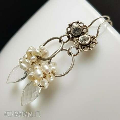 pod choinkę prezent, biel w srebrze, ślub, ślubne, srebro, perły, cyrkonie, kobiece
