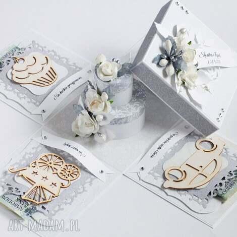 exploding box - pamiątka ślubu tort - exploding, pudełko, ślub, prezent