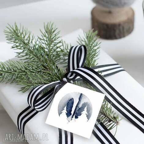 bileciki na świąteczne prezenty 6 szt, zawieszki, prezenty, bożonarodzeniowe