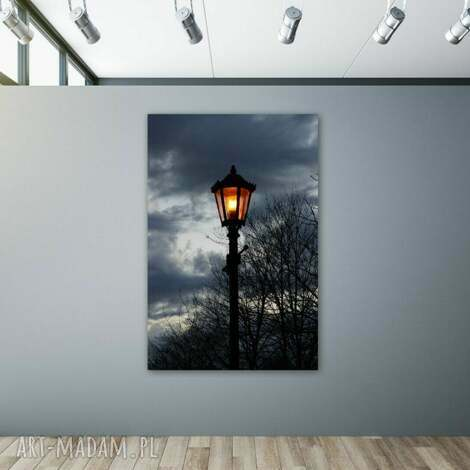 good night - foto-obraz 50x70cm, obraz, latarnia, noc, fotografia, foto obraz