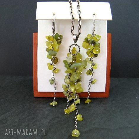 jadeit oliwin, jadeit, grona biżuteria, pod choinkę prezent