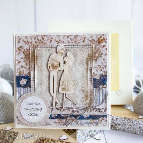 mrufru kartka zakochani - dla drugiej połówki, pary lub dniu ślubu /