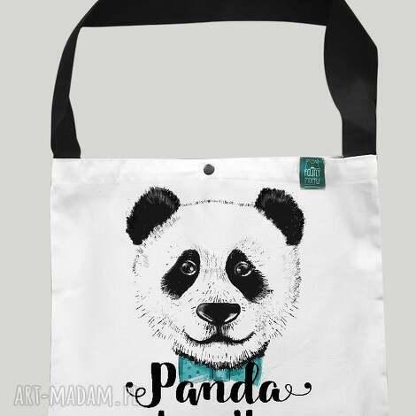 na zakupy torba worek panda loves you, panda, eko, bawełniana, torba, prezent