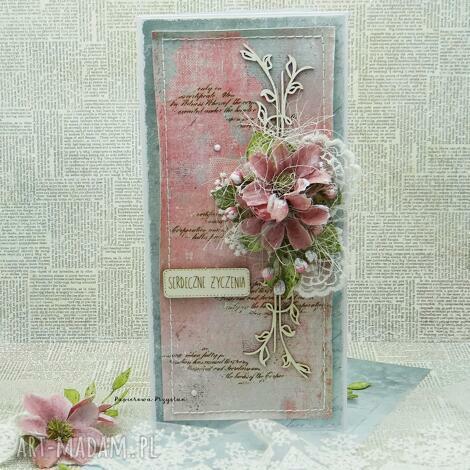 serdeczne życzenia vol 3, kartka imieniny, kartka ślubna, scrapbooking kartki