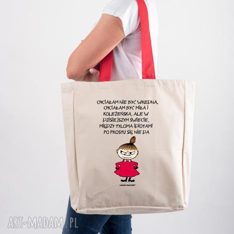 tailormade licencjonowana torba xxl muminki z czerwonym uchem chciałam nie być
