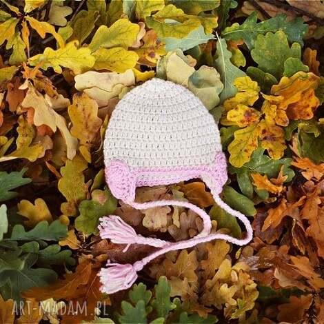 l o p i czapka serduszka, czapka, wiosna, prezent, serduszko, włóczka, głowa dla
