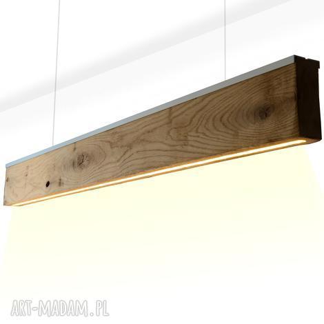 lampa rift -dąb- dół- listwa srebrna satyna - 3 sztuki - lampa, oprawa