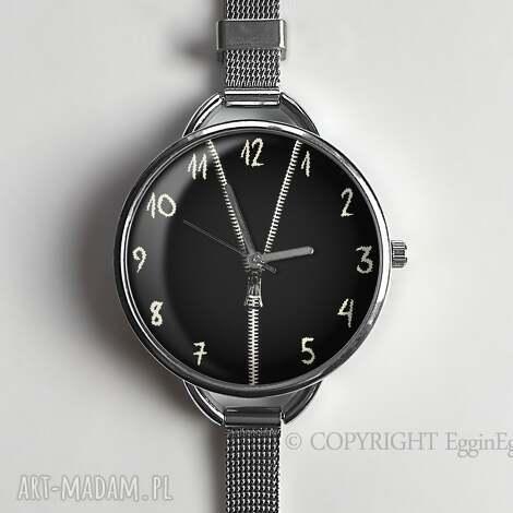 zasuwam - zegarek z dużą tarczką - 0923ws - zegarek, zasuwam, suwak, zipp