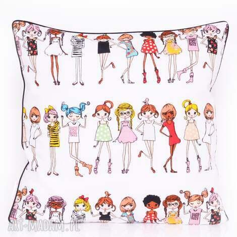 poduszki poduszka stylish girls 50x50cm od majunto, dziecięca