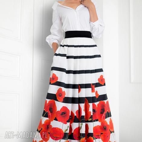 spódnice spódnica maxi w maki, spódnica, kwiaty, maxi, elagancka, nawesele