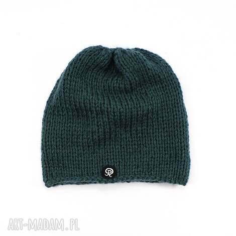 czapka ręcznie dziergana unisex - czapka, dziergana, unisex