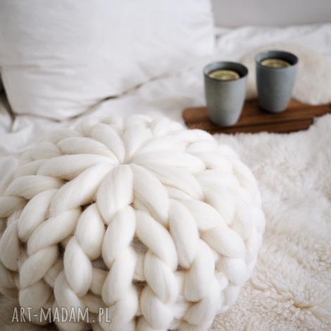 poduszka z wełny merynosów chunky pillow, poduszka, wełna, prezent, gift, merynos