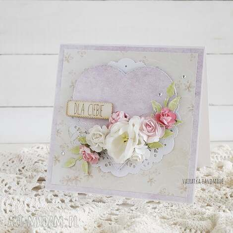 kartka z sercem, 427 - kartka, uniwersalna, urodziny, imieniny