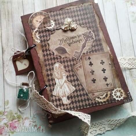 pamiętnik/szkicownik /alicja w krainie czarów, alicja, sekretnik, szkicownik