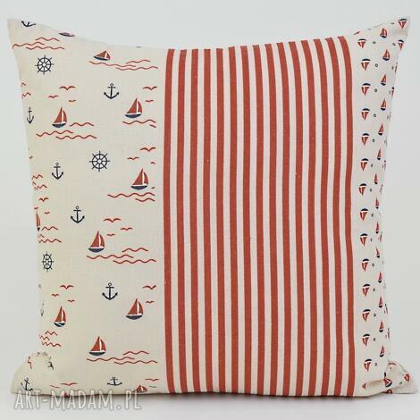 mg home decor poduszka dekoracyjna marine 45x45cm len, poduszki, poszewka, ozdobna
