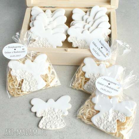 ślub aniołki w podziękowaniu, podziękowania, ślub, aniołek, magnes, koronka, wesele
