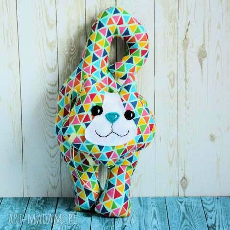 kotek - zawieszka - oluś - 22 cm, maskotka zabawka dziecko, kolorowa