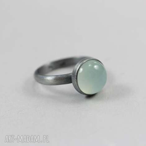 agat aqua w srebrze 2668 - pierścionek r 13,5, agat, aqua, srebro