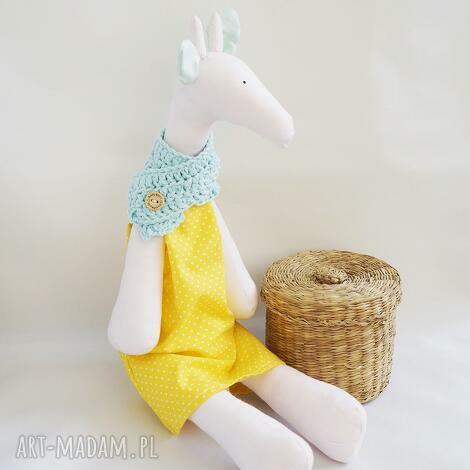 żyrafka tilda, żyrafa, maskotka, zabawka, dziewczynka