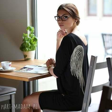 nun mi tunika skrzydła /black angel, skrzydła, malowanka, aniol
