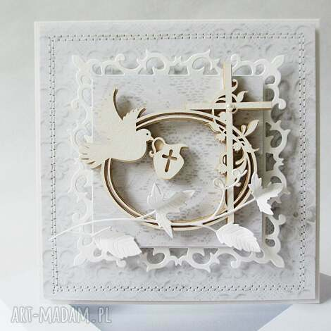 pamiątka chrztu - w pudełku - pamiątka, chrzest, dziewczynka, zaproszenie