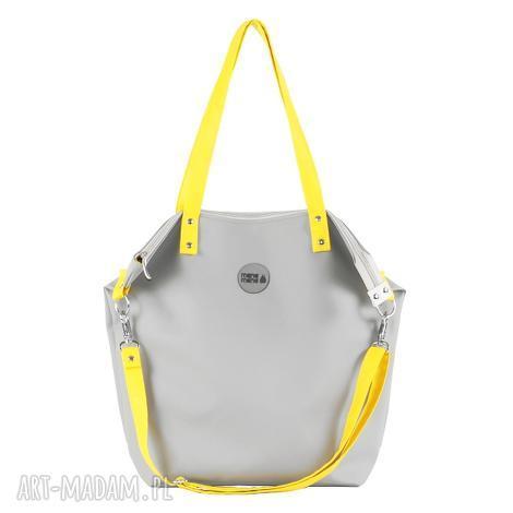 na ramię torba worek waterproof yellow grey, worek, nieprzemakalna, szary, żółty