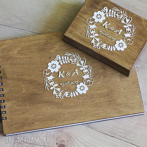 księgi gości zestaw - księga i pudełko na obrączki, album, księga