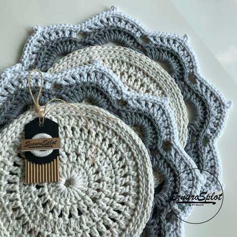 podkładki szydełkowa wielokolorowa podkładka ze sznurka bawełnianego