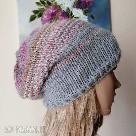 buenaartis pastele czapka, rękodzieło, czapka na drutach, bezszwowa