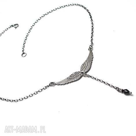 angel vol 3 - naszyjnik - srebro, skrzydełko